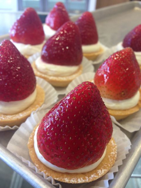 The strawberry tarts are ready!