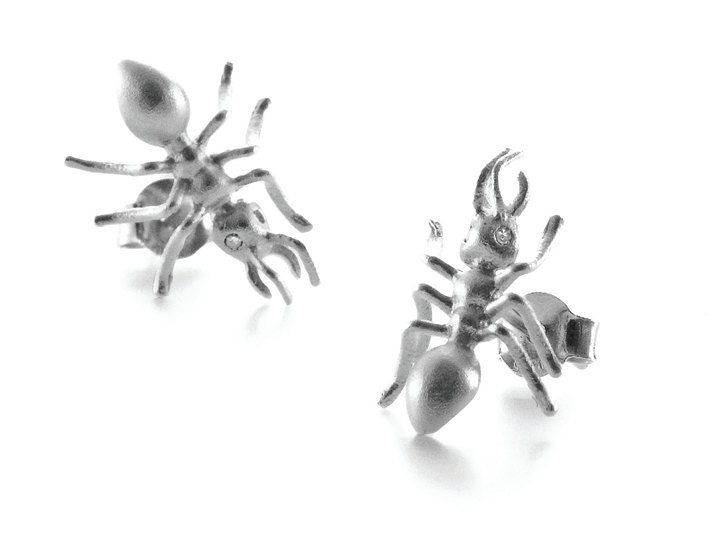 Ant earrings by BugsAndAnts on Etsy