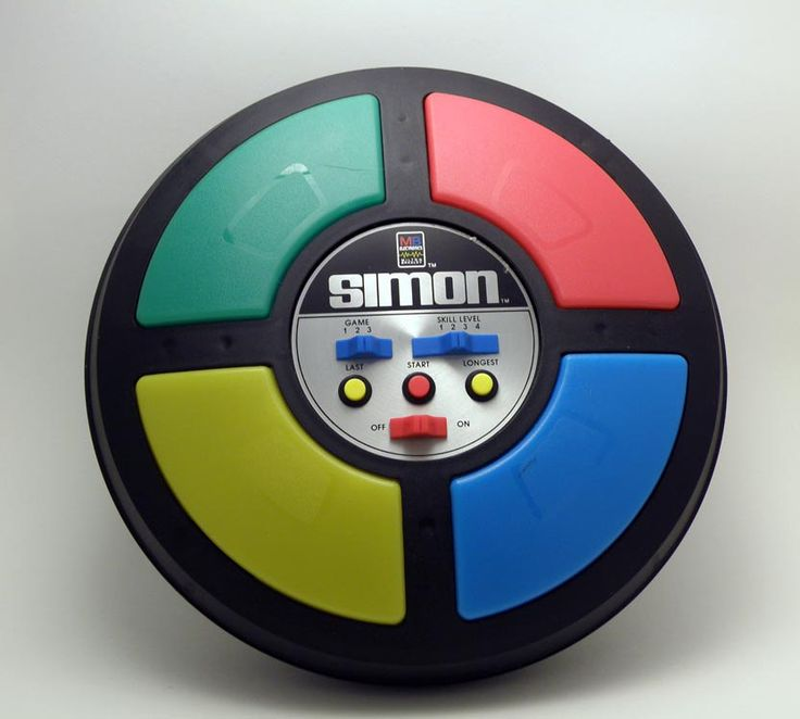 I think I still have one of these! Vintage 1980's Milton Bradley Electronic Simon Game