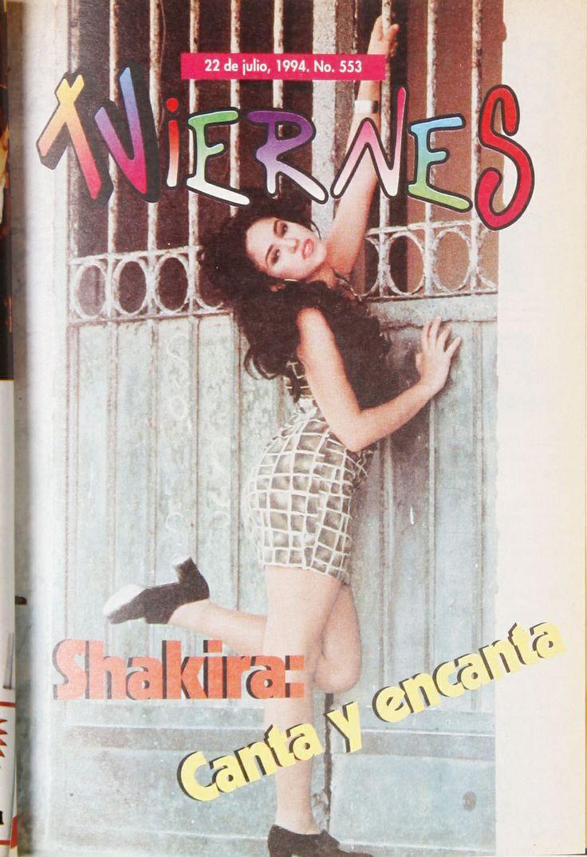 Los inicios de Shakira en la #RevistaViernes30años.