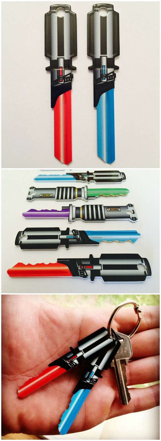 Blank keys shaped like Lightsabers. I want!!!