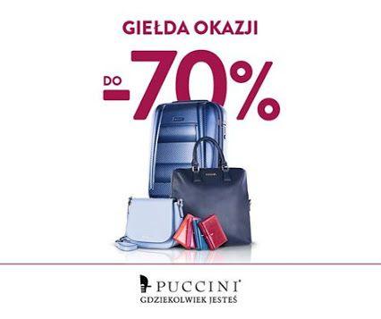 Ponownie otwieramy Giełdę Okazji! Wszystkie produkty PUCCINI aż do niedzieli kupisz nawet 70% taniej! Sprawdź ofertę: http://bit.ly/1PvdknG