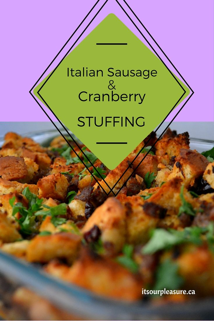 Looking for a stuffing this holiday season? Well, you can't go wrong with this recipe with the cranberries adding a sweet kick to this flavourful mix.