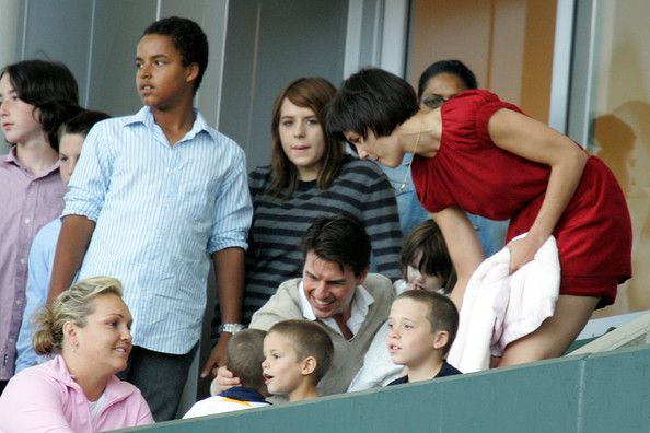Suri Cruise and Isabella Kidman-Cruise - Tom Cruise, Katie Holmes & Family Watch New York Red Bulls v LA Galaxy