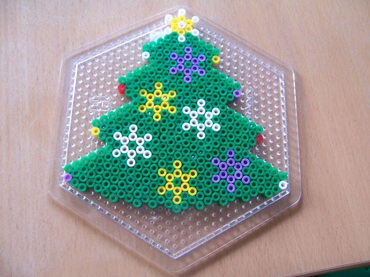Christmas tree hama perler beads by Randi Frederiksen