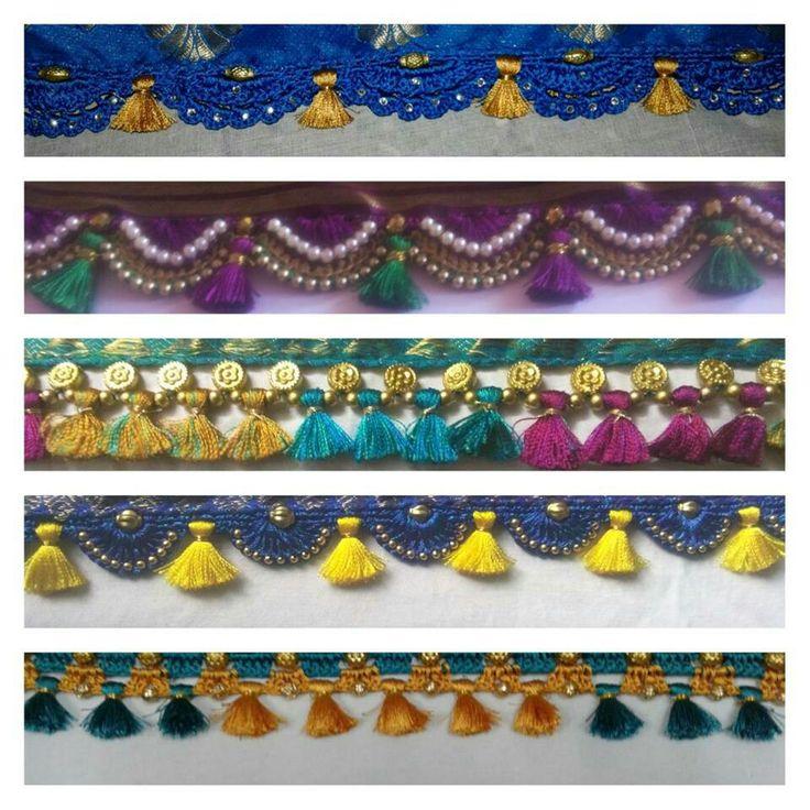 Crocheted saree tassels