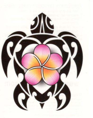 Tribal Tropical Turtle Tortise Flower Temporary Tattoo Made in USA Water Based   eBay
