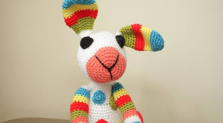 Crochet striped rabbit
