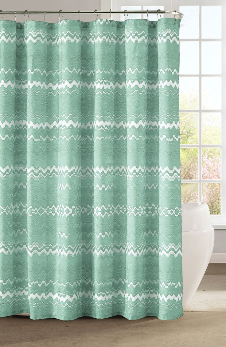 Under the sea peva shower curtain blue walmart com - This Fun And Playful Mint Chevron Print Shower Curtain Will Complement The Bathroom D Cor Perfectly