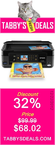 Epson Expression Home XP-400 Wireless All-in-One Color Inkjet Printer, Copier, Scanner.  Prints from Tablet/Smartphone. AirPrint Compatible (C11CC07201) $68.02