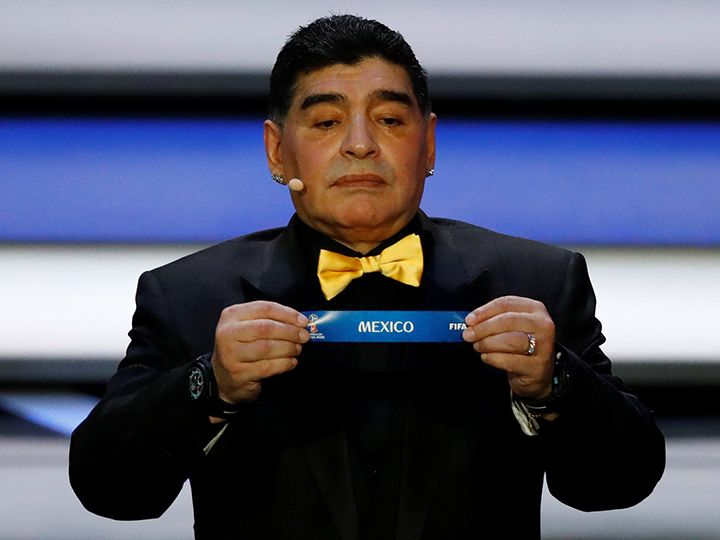 Diego Maradona 12 1 17 Sorteo Fifa Rusia 2018 Diego Maradona Fifa World Cup Draw