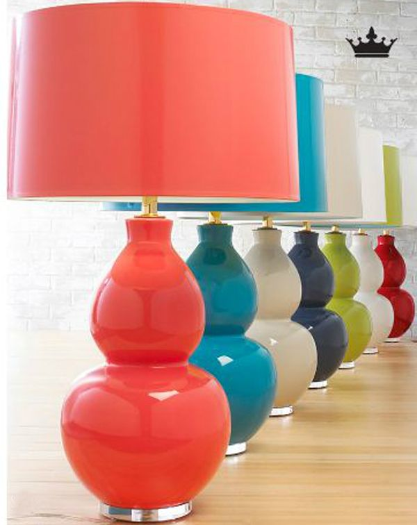 Pop Modern lamps, Shades of Light, great accent for gray living room