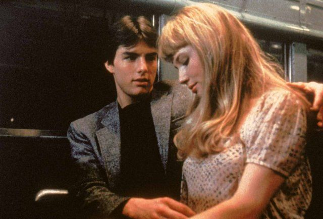 """Tom Cruise and Rebecca De Mornay in """"Risky Business"""" (1983)"""