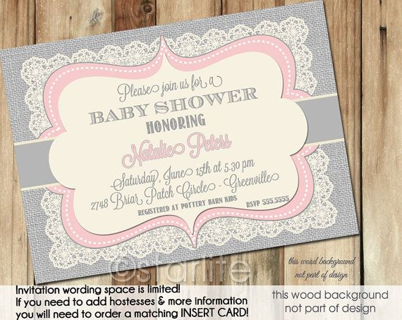42 best images about shower invites on pinterest | elegant baby, Baby shower invitations