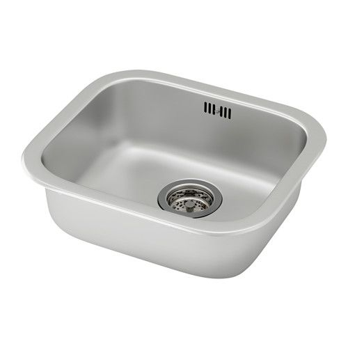 FYNDIG Ugrad sudoper,1 bazen IKEA Sudoper je izrađen od nehrđajućeg čelika. To je higijenski, čvrst i izdržljiv materijal koji se lako čisti.