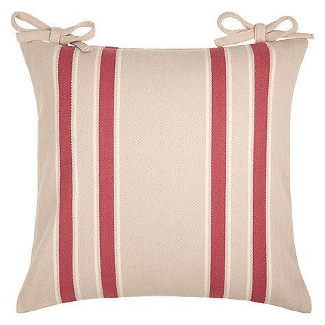 Buy John Lewis Herringbone Stripe Seat Pad Online at johnlewis.com