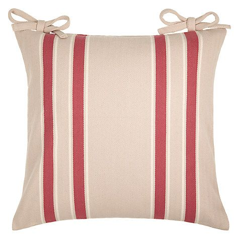 Buy John Lewis Herringbone Stripe Seat Pad Online at johnlewis.com