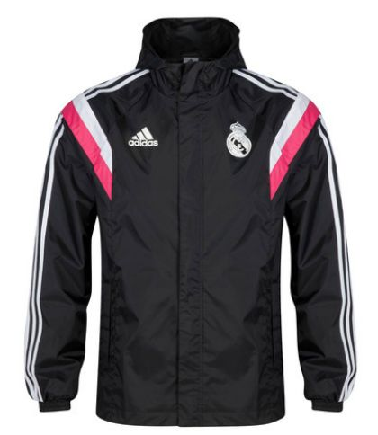 Real Madrid Training All Weather Jacket - Black Real Madrid Official Merchandise Available at www.itsmatchday.com