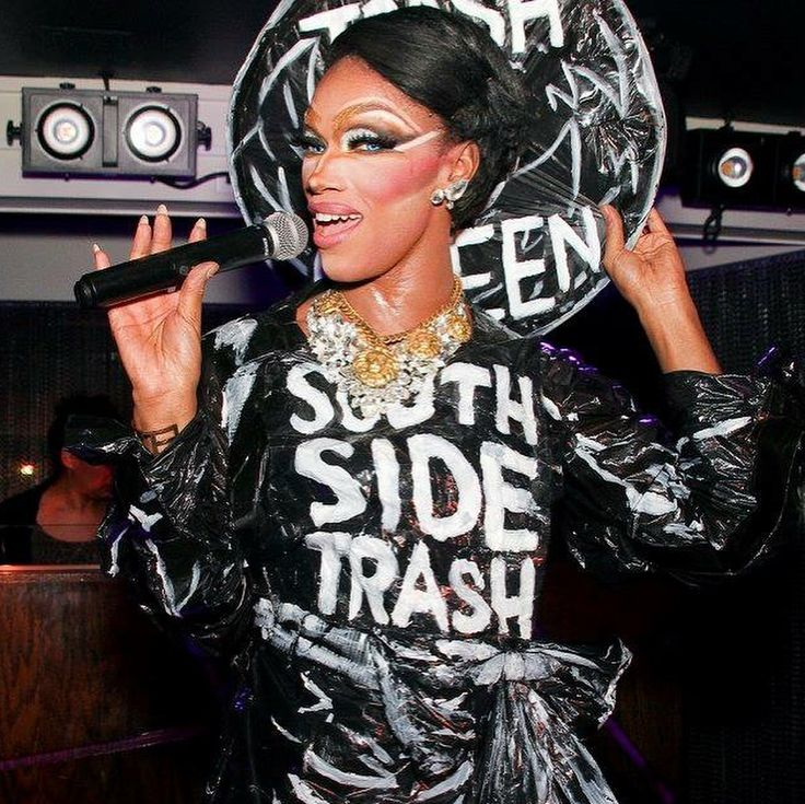"""@thevixensworld APPRECIATION POST  I have nothing but respect for The Vixen.  She made a name for herself in a blatantly racist community that was hell bent on watching her fail. I knew The Vixen was a force to be reckoned with after she heard people use the term """"south side trash"""" at Pride 2016.  Anyone who is familiar with Chicago would understand how that's a racial slur.  The Vixen took this slur and created all sorts of drag looks out of garbage bags and wrote """"South Side Trash"""" on…"""
