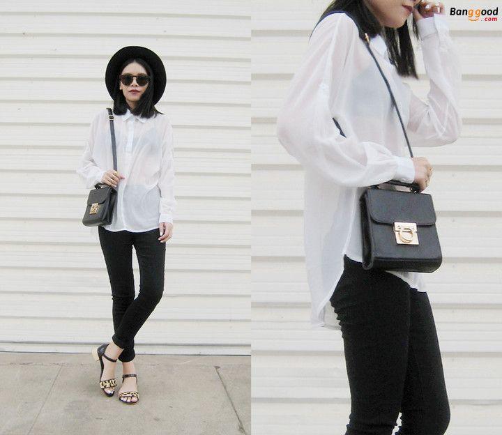 A Hint of Leopard - From Visa Lom #banggood #fashion #blogger #shirt #bag #rings