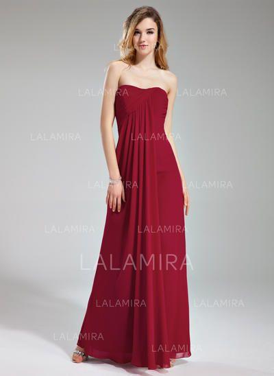 50ef70e93888 [US$ 118.99] Empire Chiffon Bridesmaid Dresses Ruffle Sweetheart Sleeveless  Floor-Length (007197766)