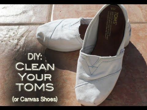 How to Clean Your TOMS or Canvas Shoes Converse Keds