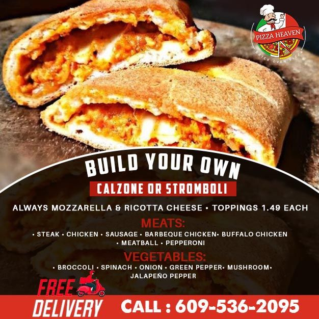 Build Your Own Calzone Or Stromboli In 2020 Pizza Heaven Good Pizza Stuffed Peppers