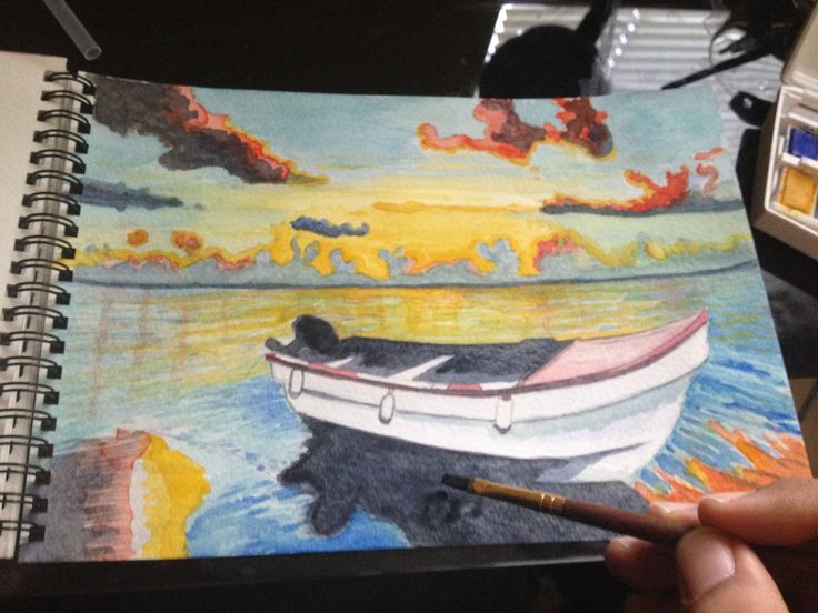 Learning Water Colours Barca Imagen 2.