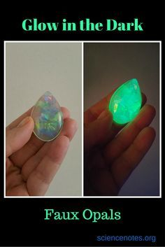 "Make your own glow in the dark ""opals"" using resin."