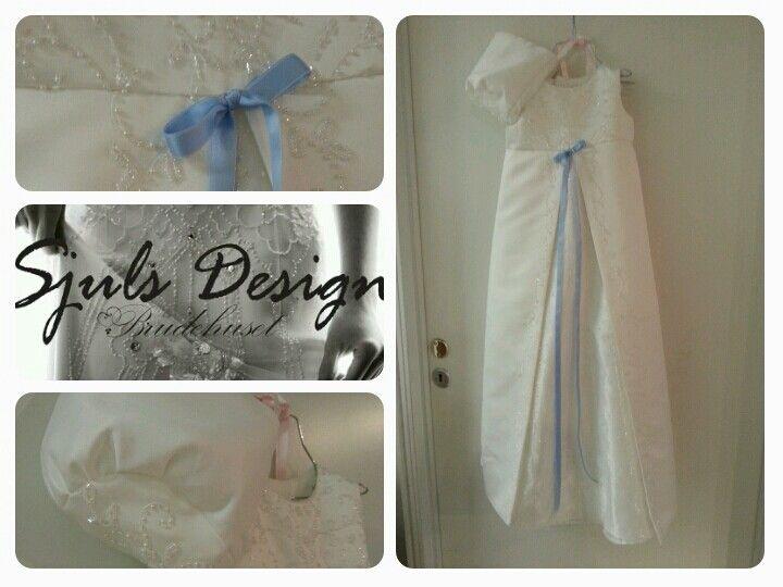 Redesignet brudekjole. Fra #brudekjole til #dåpskjole Was weddinggown turned into christeninggown.