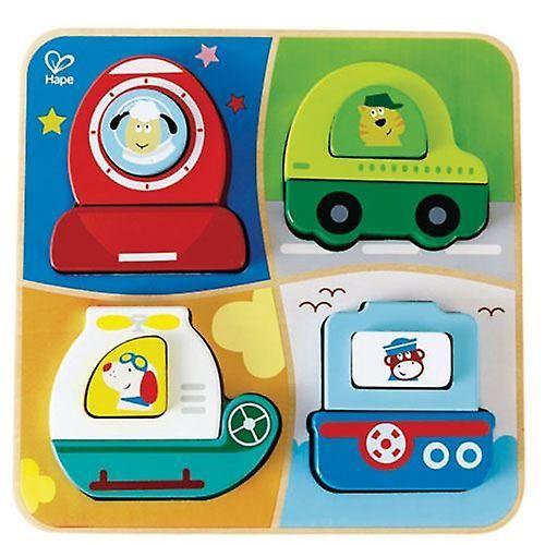 Hape Love Play Learn Wooden Toy - All Terrain Adventure - 18mth+  - E0437   Baby Toys & Activity Equipment   Fruugo United Kingdom