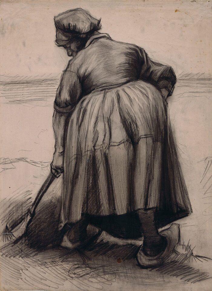 """1885년 어느날 그의 동생 #테오 에게 보낸 편지에 """"나는 농민들의 특징을 파악하기 위해 1년 반동안 지켜봤다""""  당신이 생각할때, 반고흐는 어떤 특징을 파악했을까요?  전체 편지 내용 : http://bit.ly/Letter-512   그림 : http://bit.ly/woman-digging  #반고흐 #빈센트 #빈센트반고흐 #화가 #예술 #작품 #안경 #안경테 #선글라스 #썬글라스 #Vangogh #vincentvangogh #gogh #고흐 #sunglass"""