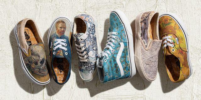 Dos Quadros Para Os Sneakers Vans X Van Gogh Msnks Vans Vans Classic Slip On Sneaker Slip On Sneaker