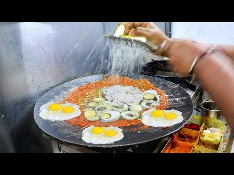 Dabang Indian Lady Making 6 Layer Omelette Dish | Must Watch Dish | Indian Stree…