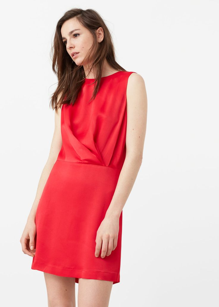 Ruched detail dress - Dresses for Women | MANGO USA