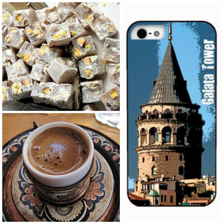 Galata Kulesi, lokum, Türk kahvesi...  İstanbul Serisi en özel manzaralarla... https://www.sanakapakolsun.com/urun/6219-galata-tower-apple-iphone-5.html