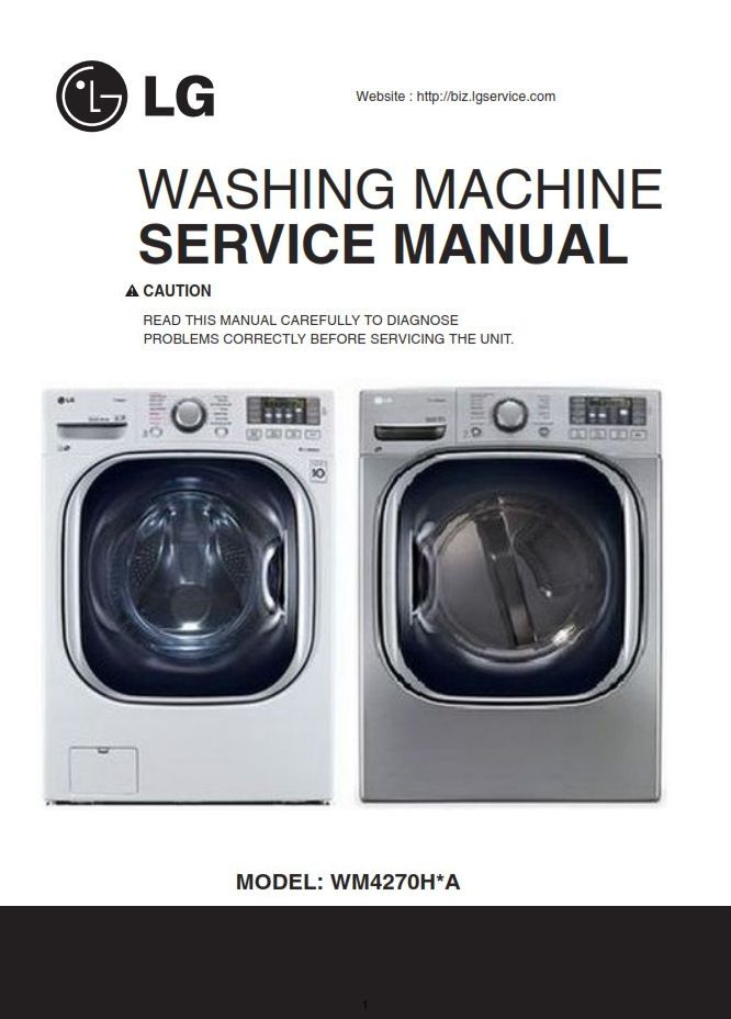 Lg Wm4270h Wm4270hwa Wm4270hva Washer Service Manual Washing Machine Service Lg Washing Machines Washing Machine