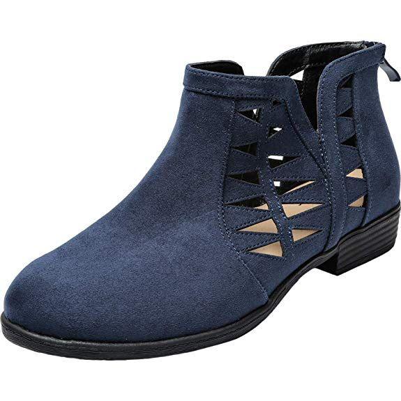 eb4bbfe0f0028 Amazon.com | Aukusor Women's Wide Width Ankle Booties - Low Heel ...