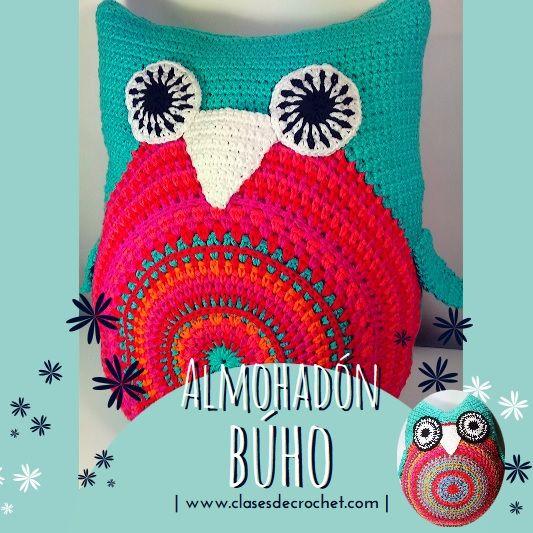 #Crochet Decoración Almohadón Búho