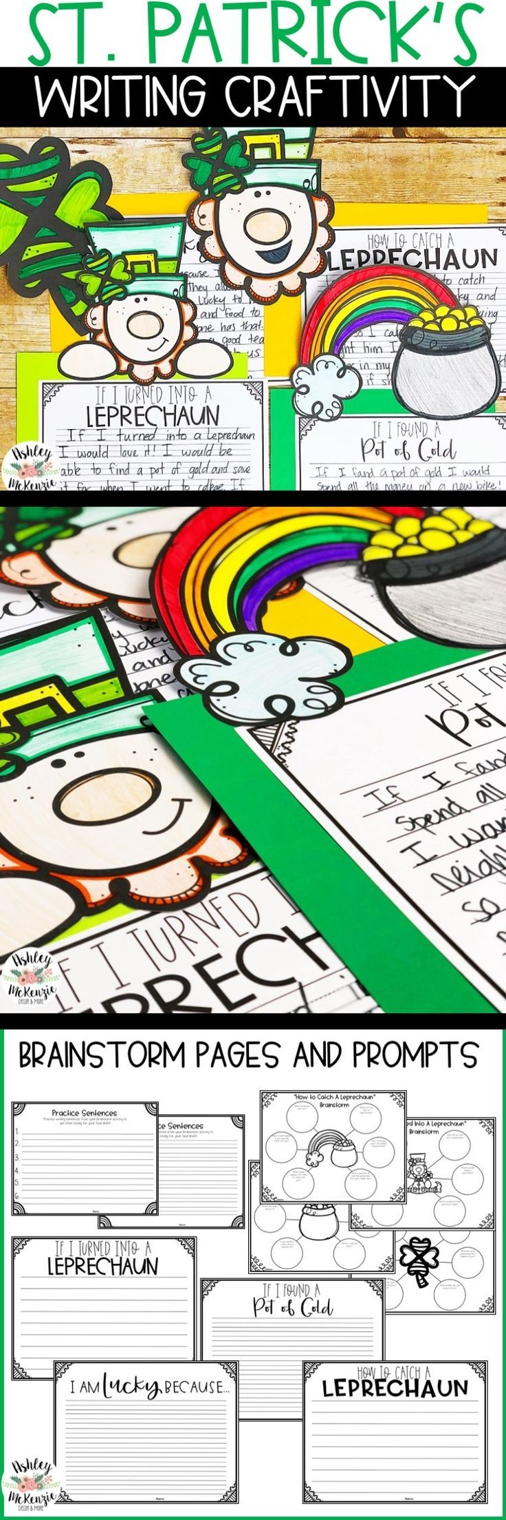 This is a great way to get students writing about St. Patrick's Day! They can use these writing prompts all during the month of March!