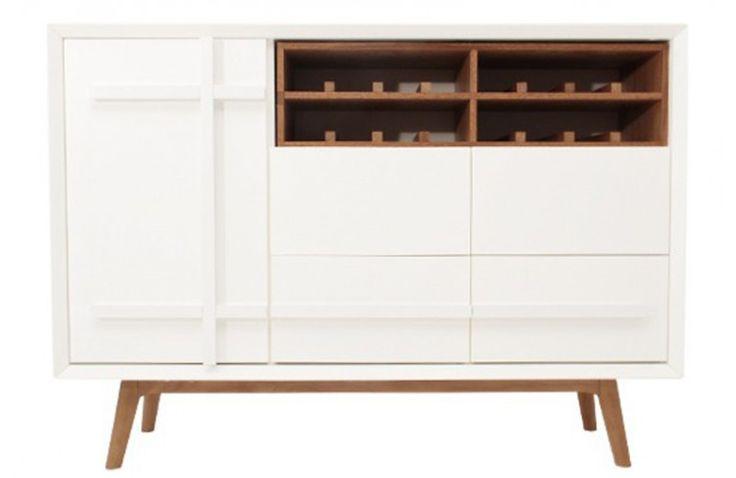 Buffet Design Daven - Blanc et Bois d'Orme 125 cm - Meubles Sodezign.com - principale