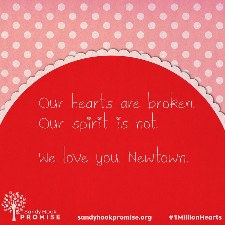 Send your love and support to Newtown with Sandy Hook Promise. Help us send #1MillionHearts to Newtown.