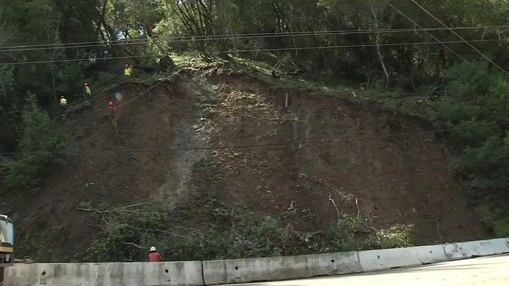Image result for landslide in the forest