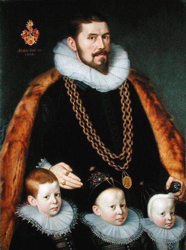 Gortzius Geldorp (1553-1618) — Family Portrait,  1598  (597x800):
