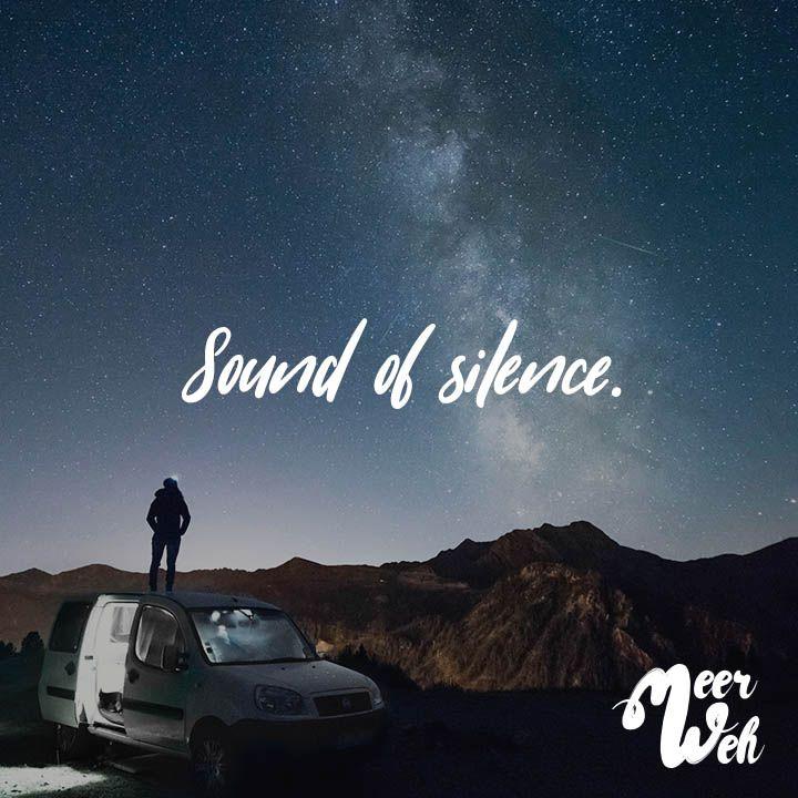 Visual Statements®️ Sound of silence. Sprüche / Zitate / Quotes / Meerweh / Wanderlust / travel / reisen / Meer / Sonne / Inspiration