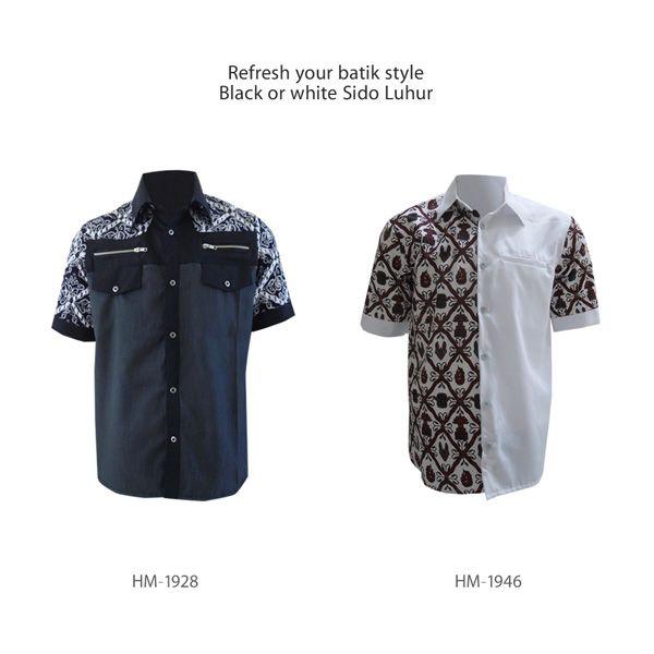 Refresh your batik style Black or White Sidoluhur? #kemejabatikmedogh http://medogh.com/baju-batik-pria/kemeja-batik-pria
