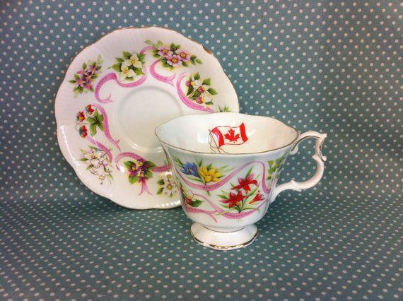 FREE UK POST  Pretty Royal Albert Canada china cup & by TheTeaTray
