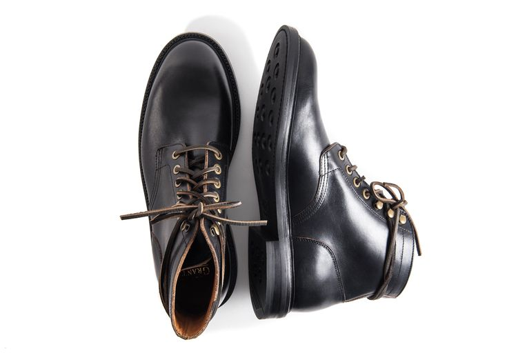 Grant Stone Diesel Boot Black Chromexcel Rubber Sole