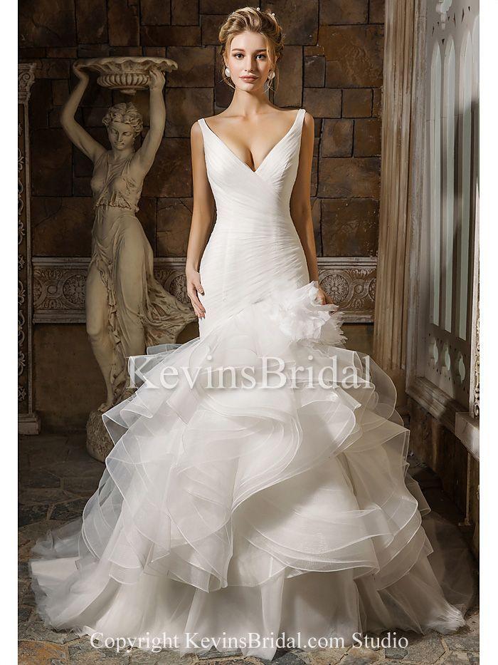 http://www.kevinsbridal.com/prod/Church-Organza-Trumpet-Sleeveless-Ivory-Long-Ruffled-Wedding-Dress_2706/