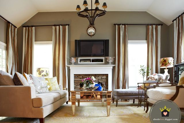 Lovely Living Rooms For A Design Loving Life : Ideas for cable box and blue ray player with TV wall mounted above the ...